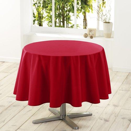 Tablecloth Essentiel red around 180 cm
