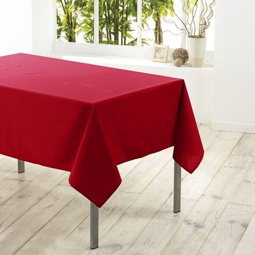 Tafellaken-Tafelkleed- Essentiel rood 140x200cm