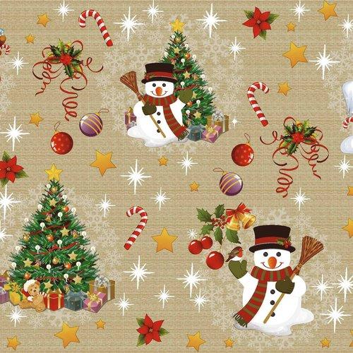 PVC oilcloth Christmas gold