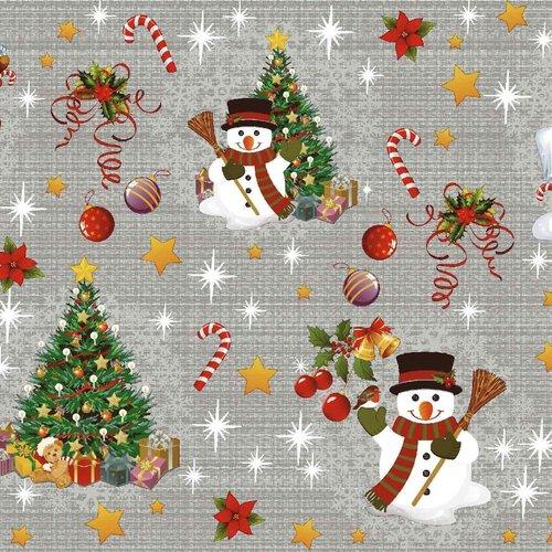 PVC oilcloth Christmas gray