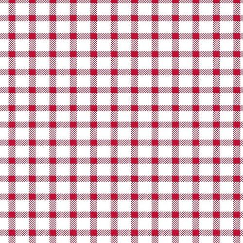 PVC Oilcloth Square red mono