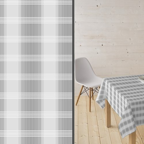 Coated Table Textile Tobermay gray