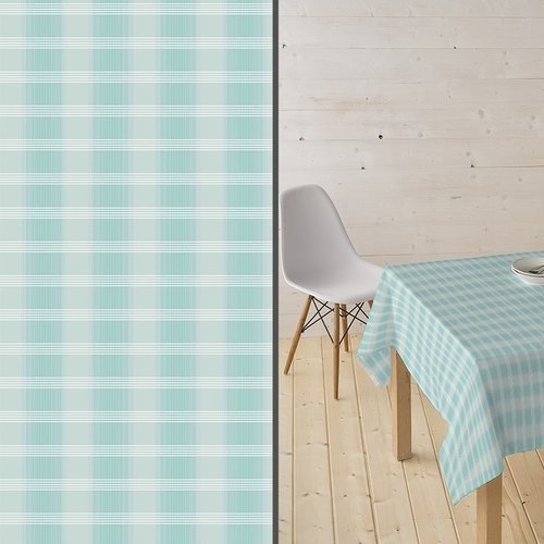 Coated Table textile Tobermay mint blue
