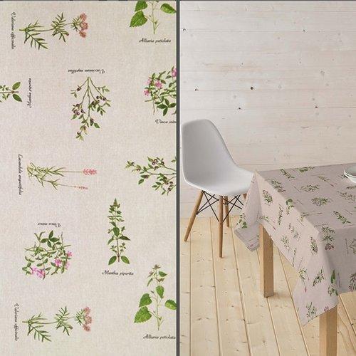 Coated Table textile Botanic nature