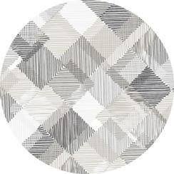 PVC Tafelkleed Blockies grijs rond 160 cm
