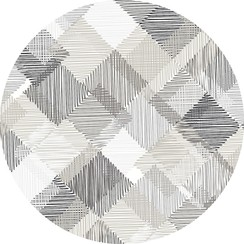 Rond PVC tafelkleed Blockies grijs - 160cm