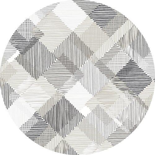 Tafelzeil rond blockies - grijs 160cm