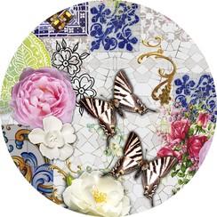 Rond PVC tafelkleed Wilder mosaics - 160cm