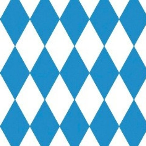 Damask paper on roll 100 cm x 10 m Bayern Checkered blue 25 pieces.