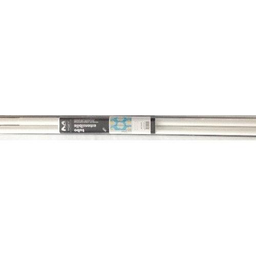 Shower bar 125 - 220 cm white