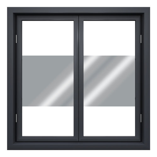 Sun protection window film 45 cm transp / silver