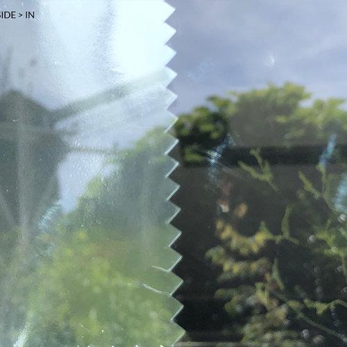 Sonnenschutzfensterfolie 45 cm transp / silber