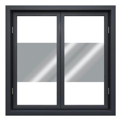 Zonwerende raamfolie 90cm transp/zilver