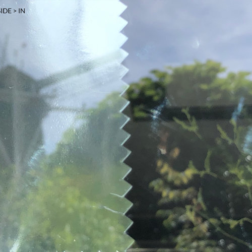 Sun protection window film 90 cm transp / silver