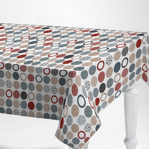 PVC oilcloth Bely red