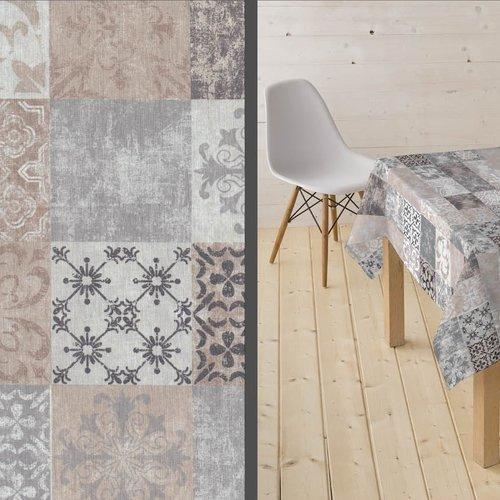 Coated Table textiles Castillo camel