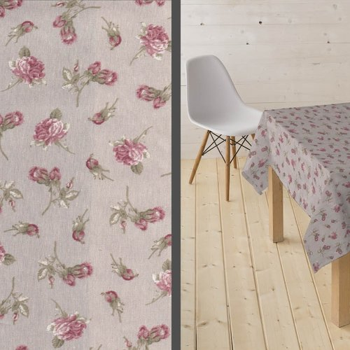 Coated Table textile Candy rose
