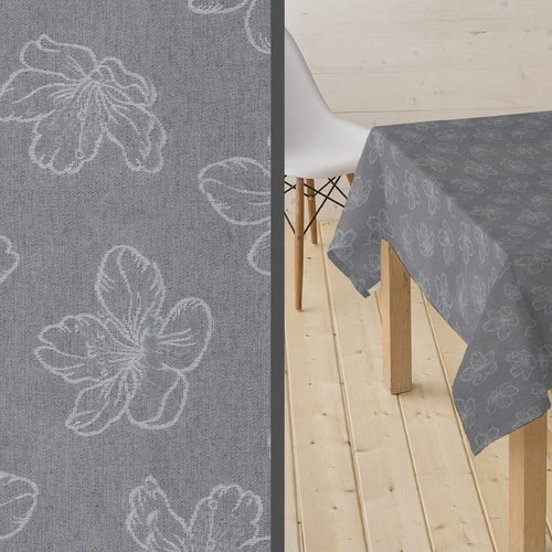 Coated Tablecloth Adalis gray