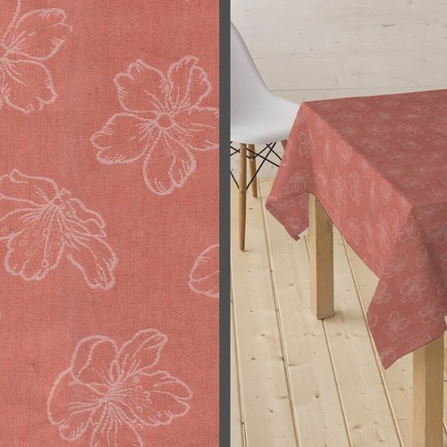 Coated Tablecloth Adalis soft red