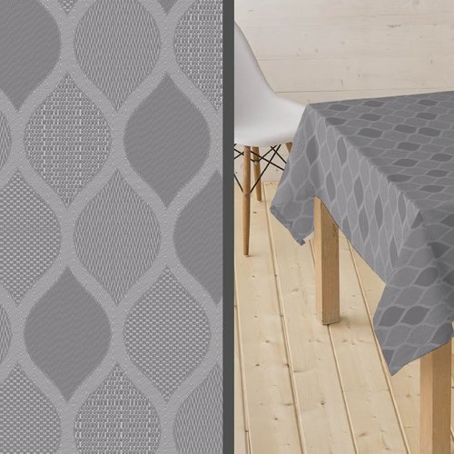 Coated Table textile Karen gray