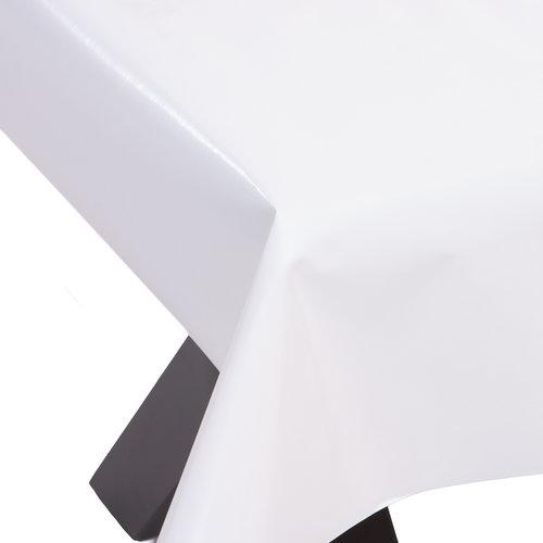 PVC oilcloth Uni white