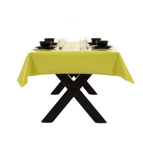 PVC oilcloth Uni green