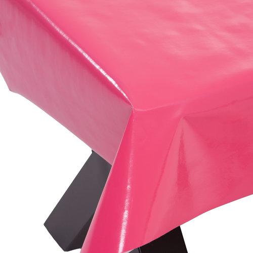 PVC oilcloth Uni fushia