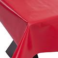 PVC oilcloth uni red