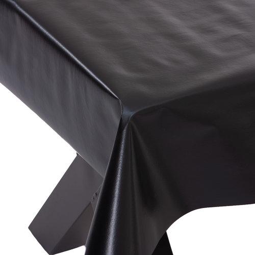 PVC Wachstuch Uni - schwarz