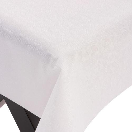 PVC oilcloth Damask white