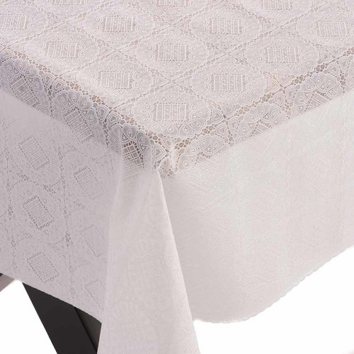 Oilcloth Lace  Aya white