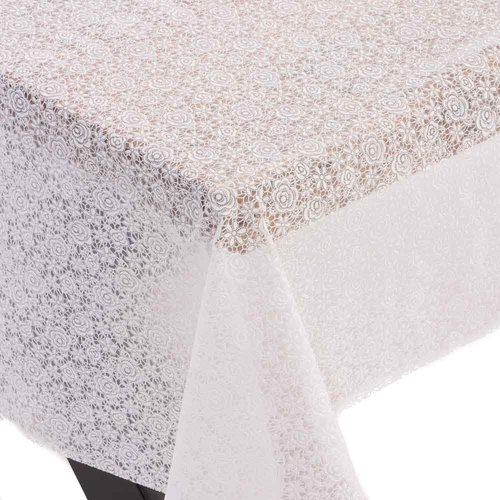 Oilcloth Lace Flower white