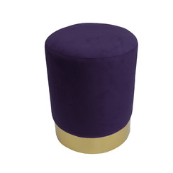 Pouf velvet purple