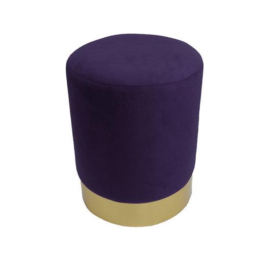 Pouf velvet purple