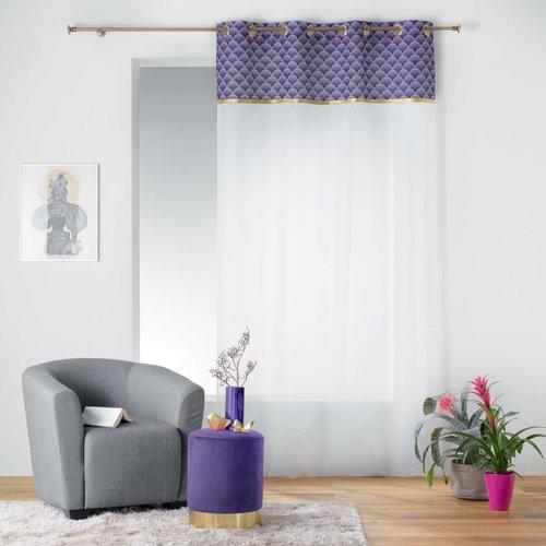 Pouf velvet purple 32x38cm
