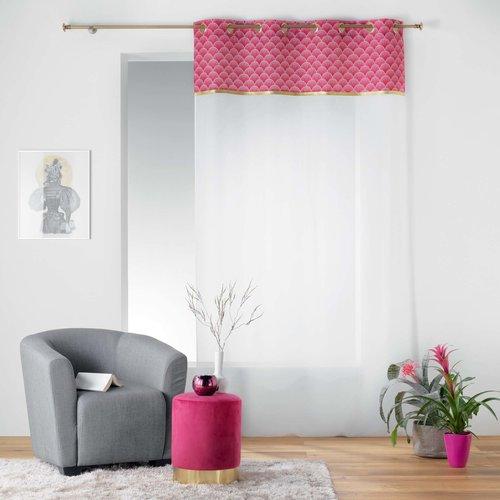 Pouf velvet pink 32x38cm