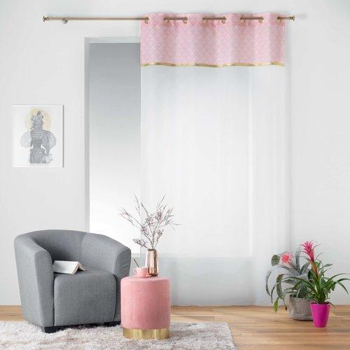 Pouf velvet pastel pink 32x38cm