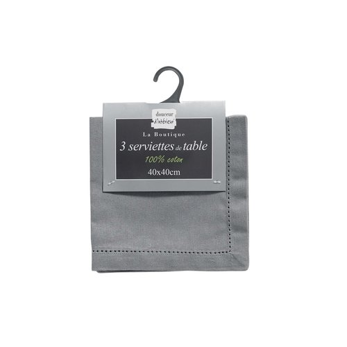 Napkins Charline 40x40 cm gray