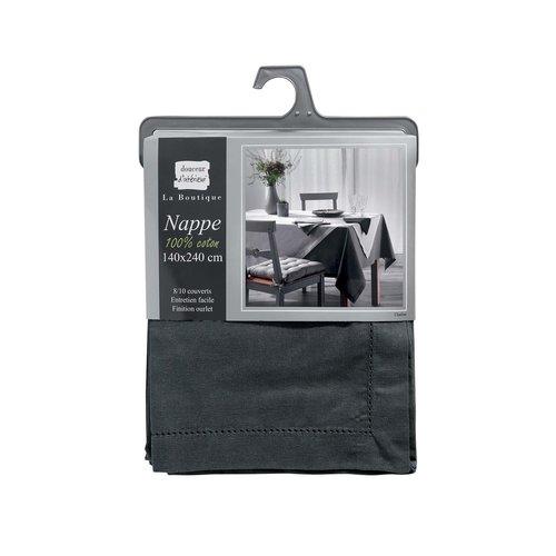 Tafellaken-Tafelkleed- Charline antraciet 140x240cm