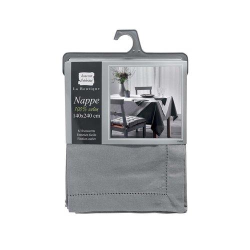 Tafellaken-Tafelkleed- Charline grijs 140x240cm