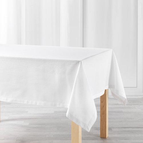Tafellaken-Tafelkleed- Charline wit 140x240cm