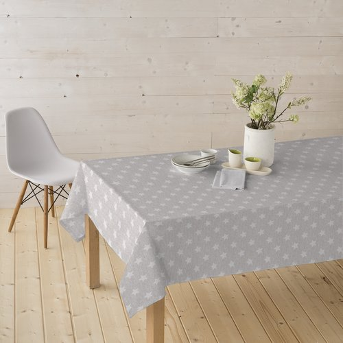 Coated Table textiles Star silver