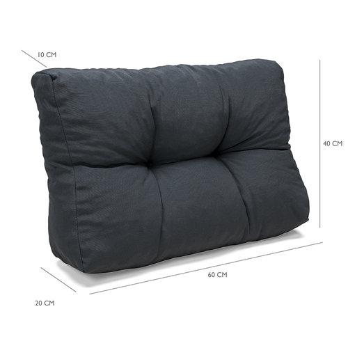 Palettenkissen Grundlegender Komfort Rückenteil halbe Palettenlänge grau 60x40x10/20cm