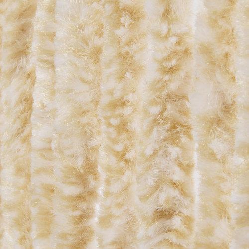 Vliegengordijn-kattenstaart- 90x220 cm beige/wit mix in doos
