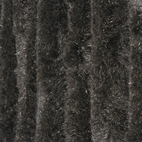 Kattenstaart 90x220 cm zwart uni in doos