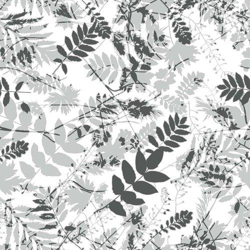 PVC oilcloth  Vegetation gray