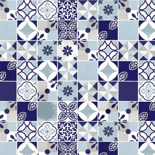 PVC oilcloth  Saudade blauw