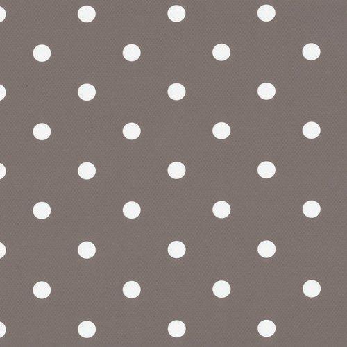 Plakfolie-Plakplastic dots taupe 45cm x 15mtr. rol