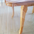 Transparent oilcloth 0.60mm. 140 cm x 15 m.