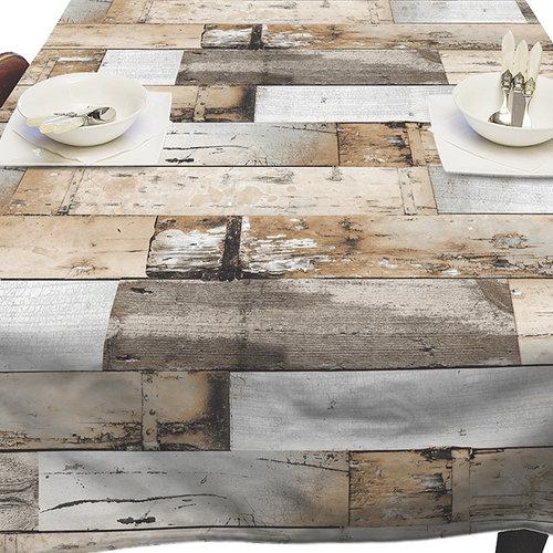 Tischdecke Woody brown  140x250 cm